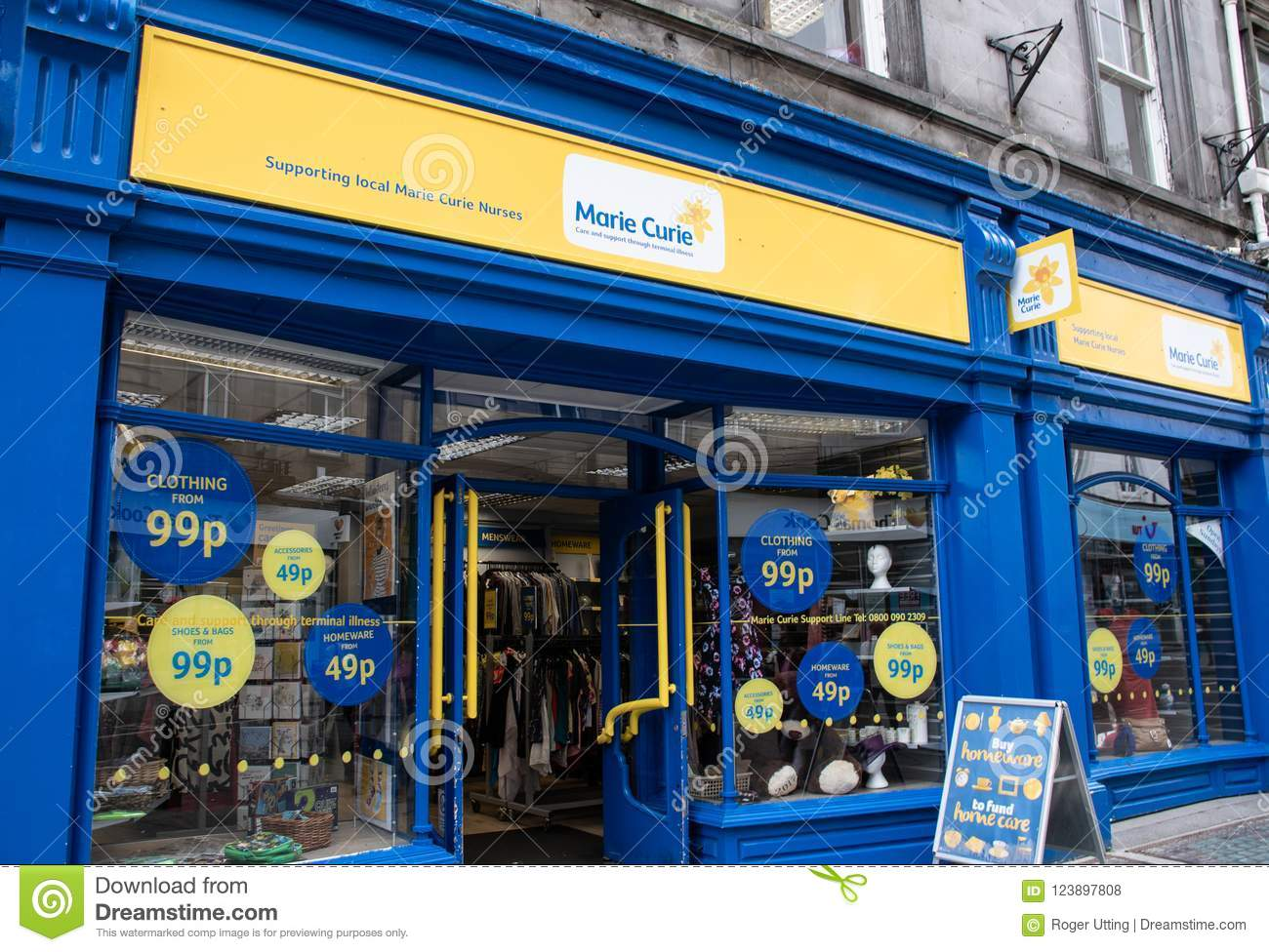 Marie Curie Charity Shop Front