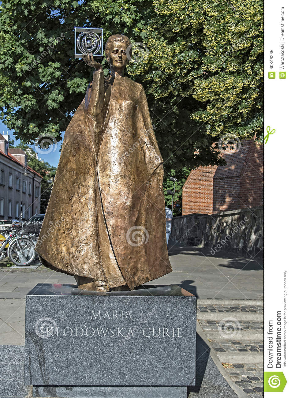 Marie Curie Editorial Image Image Of Discoverer Statue