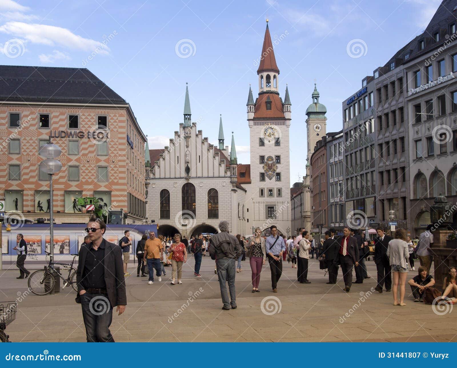 Marienplatz Munich Editorial Photography Image 31441807
