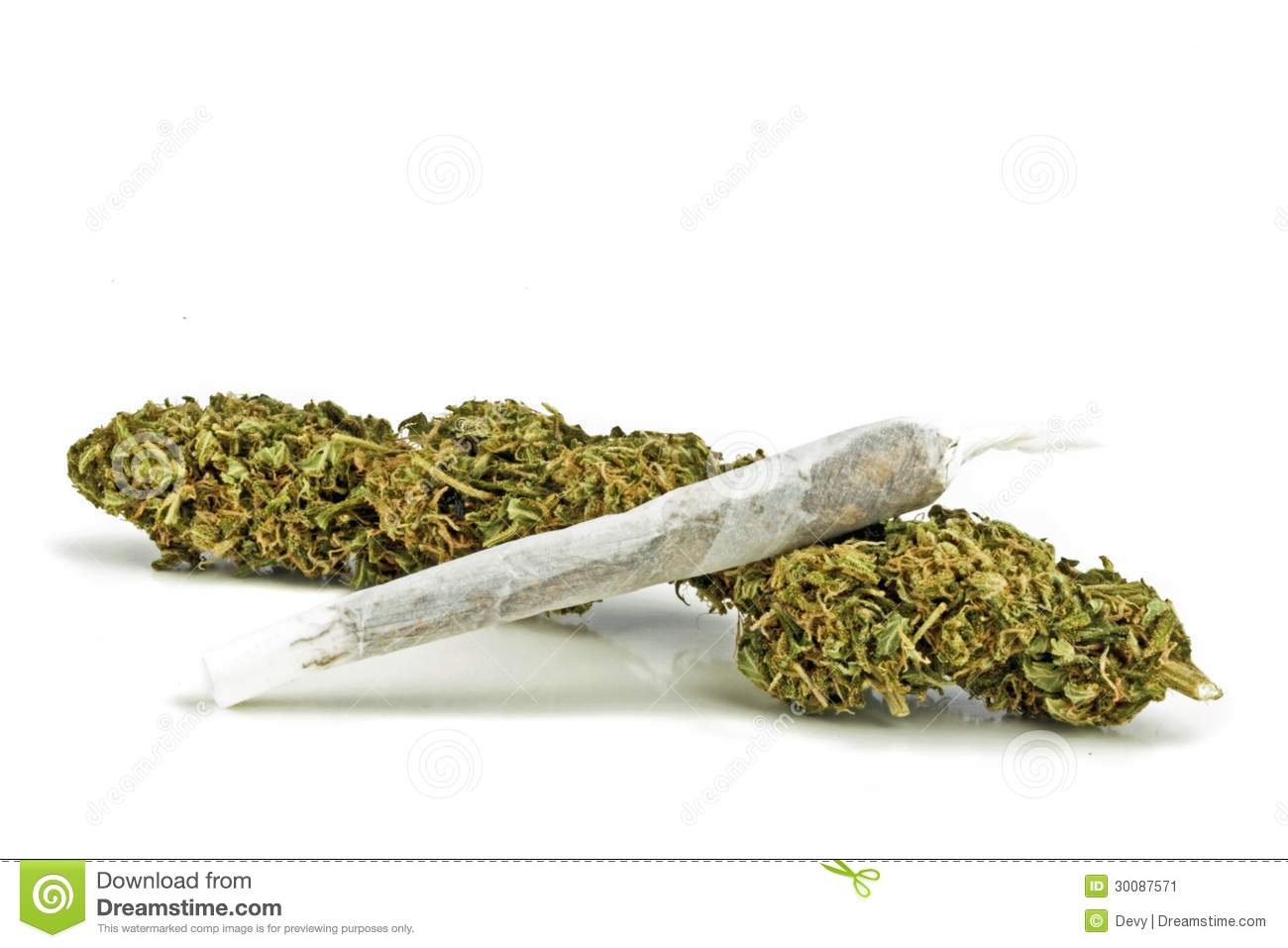 Marihuana with a joint