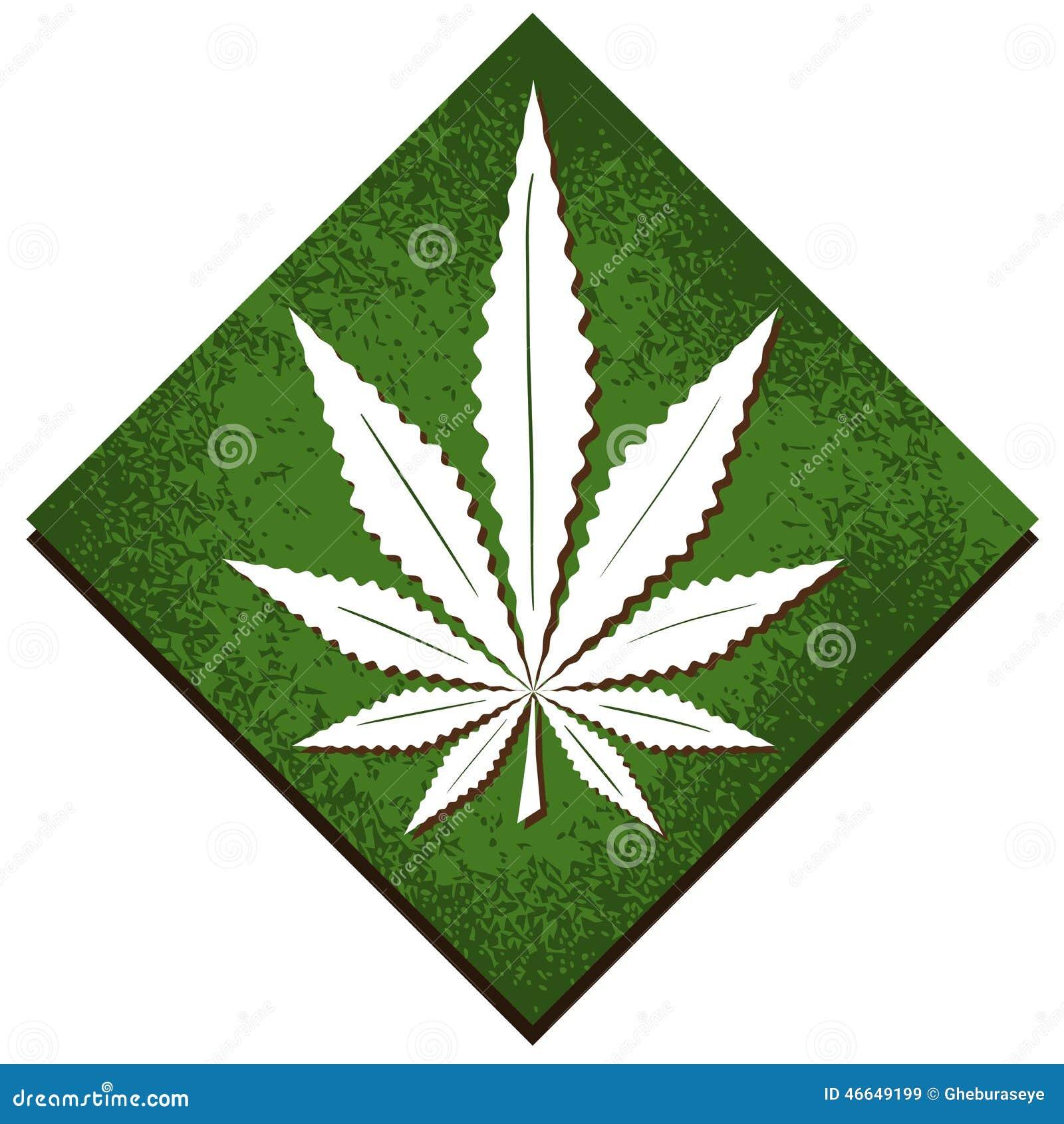 Marihuana Liść Na Abstrakcjonistycznym Tle Ilustracji