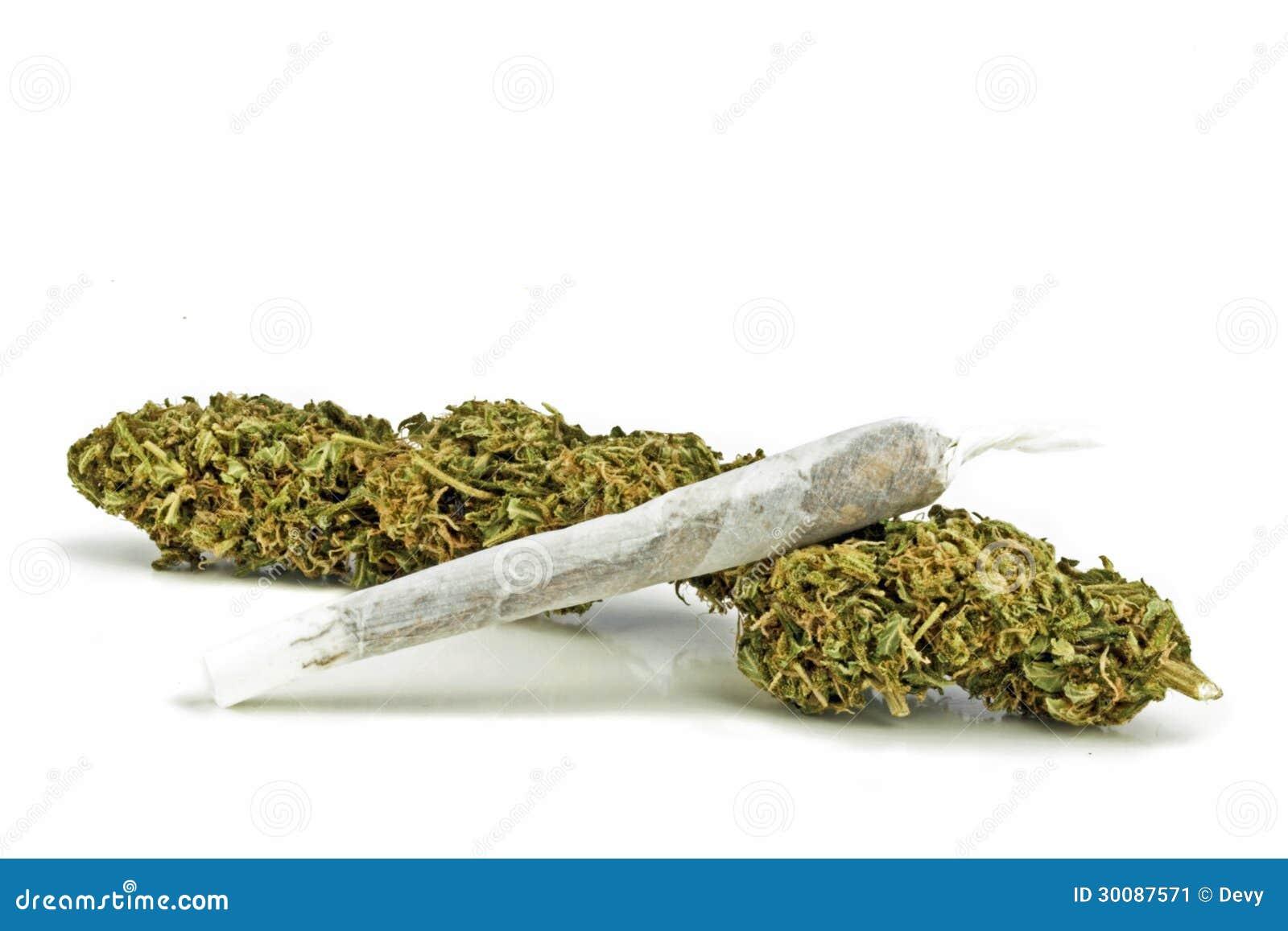 Marihuana met een verbinding