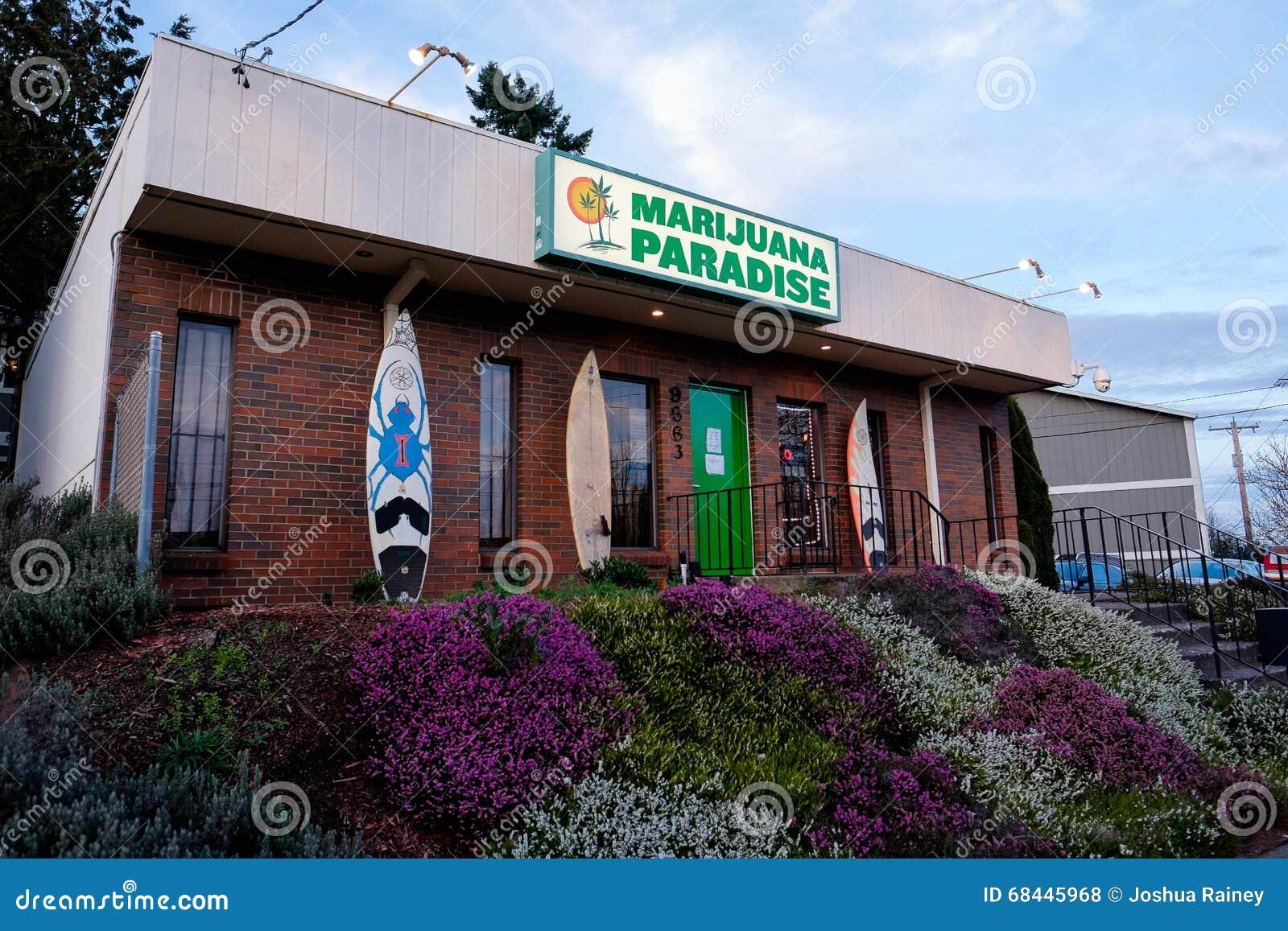 Marihuana raju garnka Dispensary w Portlandzkim Oregon