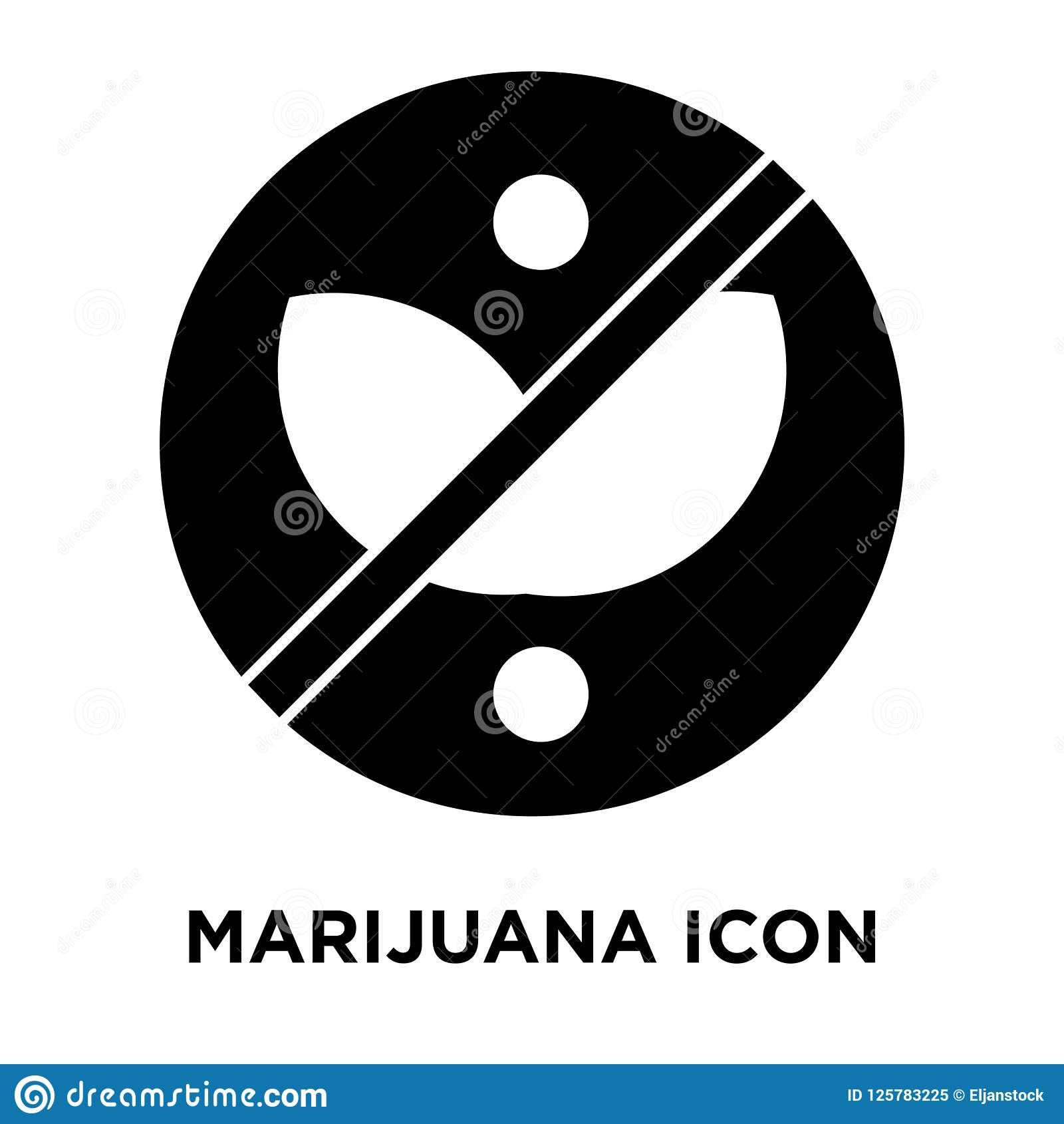 Marihuany ikony wektor odizolowywający na białym tle, loga pojęcie