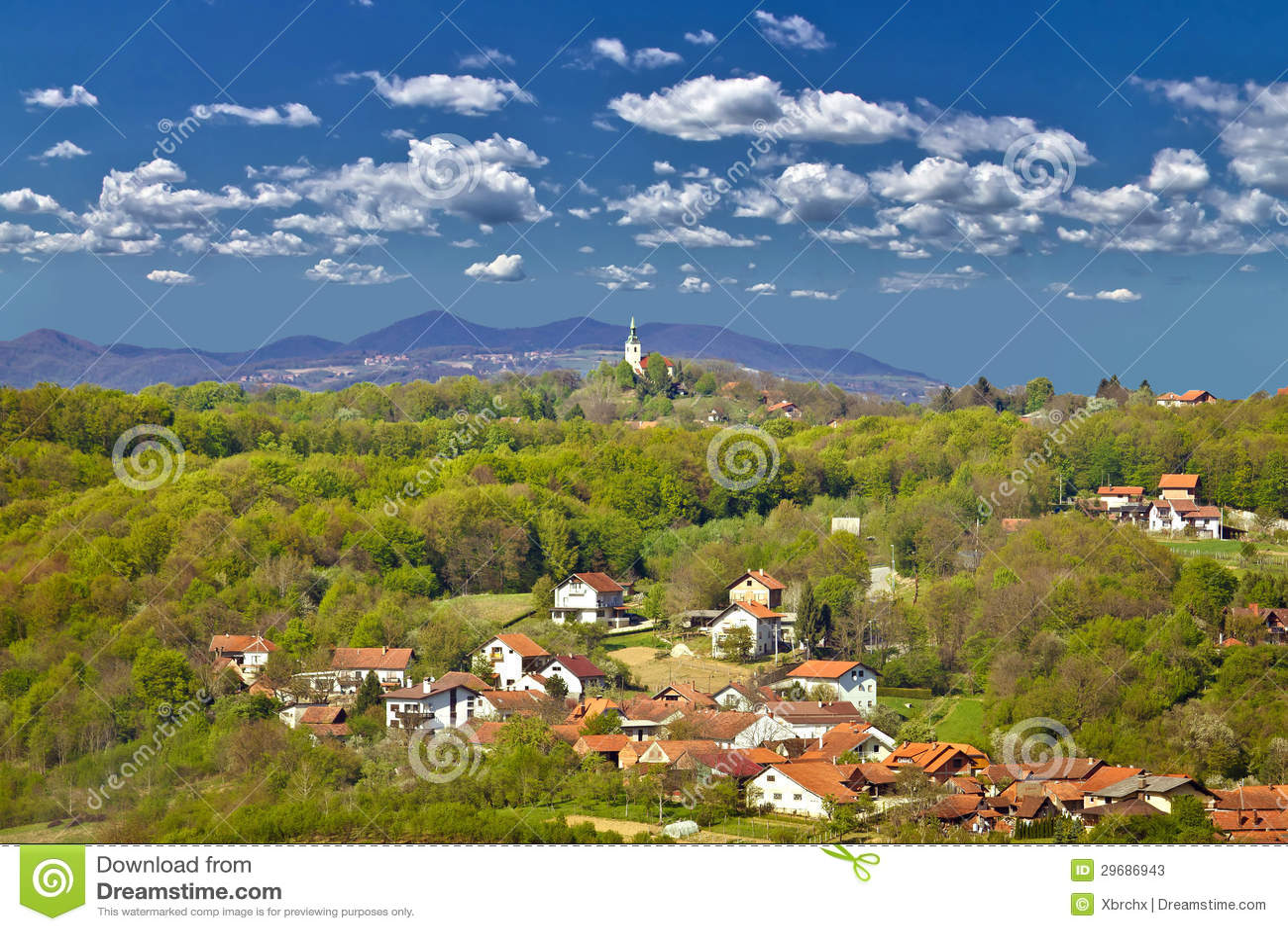 Marija Bistrica, green nature of Zagorje