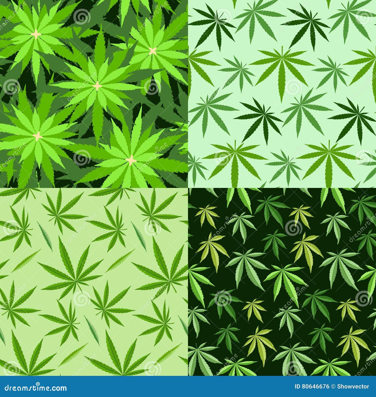 Marijuana background set seamless patterns stock illustration marijuana background set seamless patterns culture legalization biocorpaavc Images