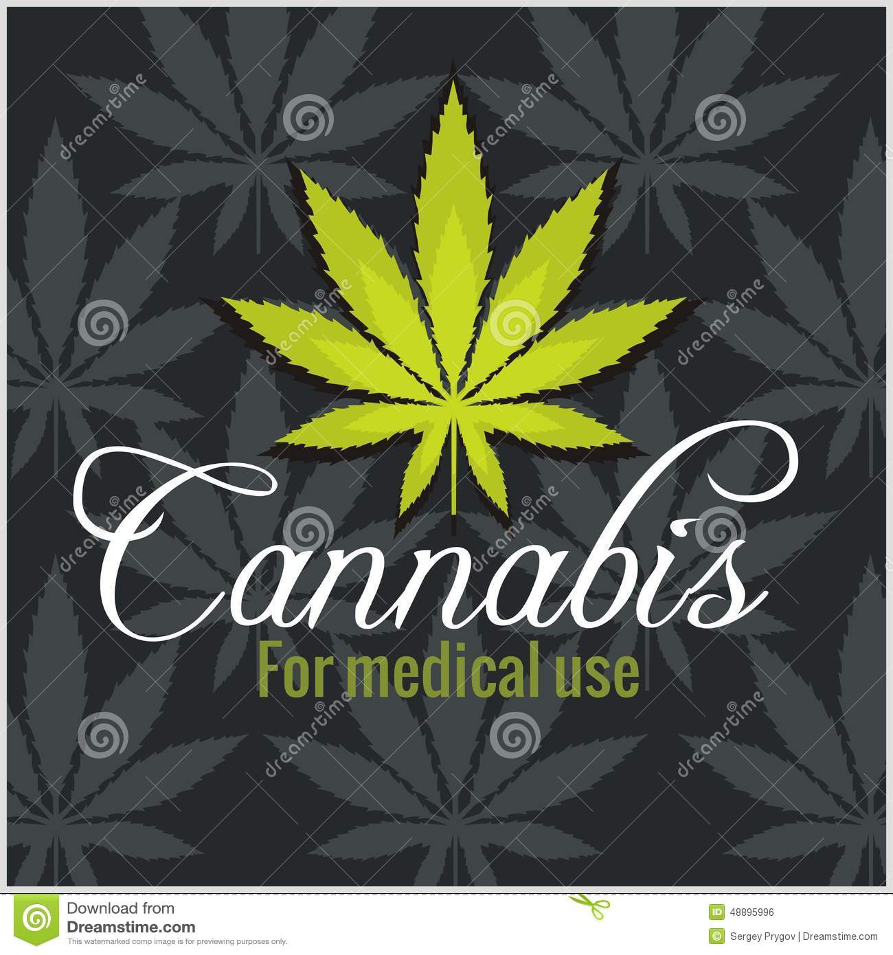 Marijuana set - cannabis. Vector illustration for product labels and ...