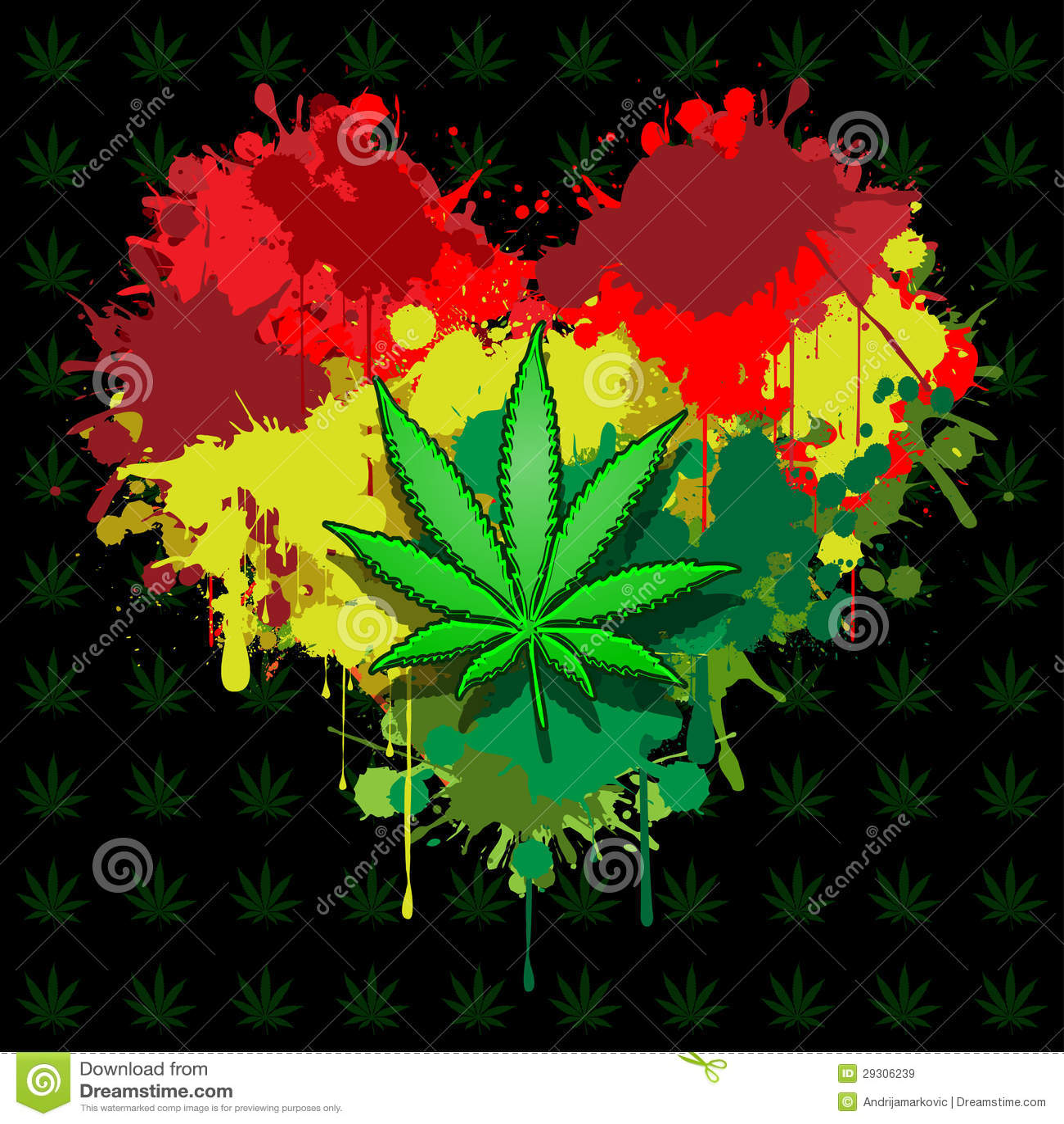 Marijuana Del Amor Ilustracion Del Vector Ilustracion De Verde