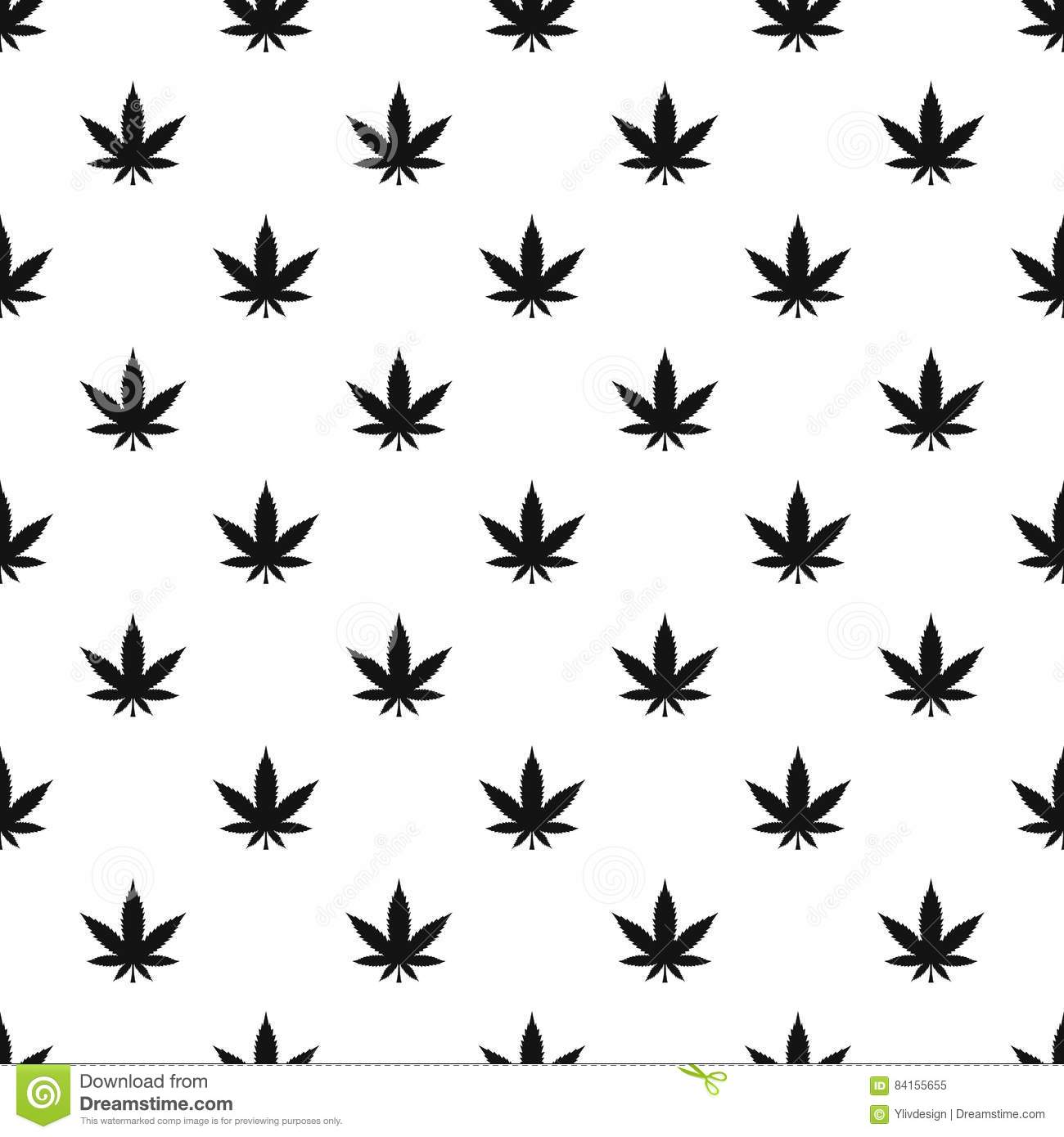 Marijuana leaf pattern simple style stock vector image for Weed leaf template