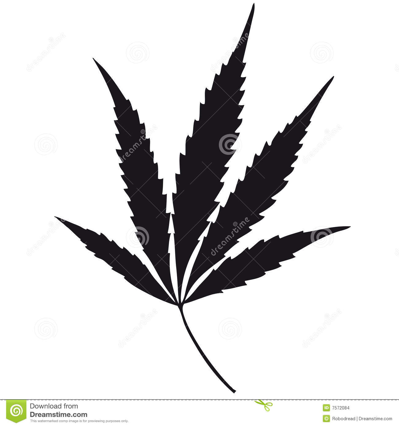 Marijuana Leaf Vector Stock Vector Illustration Of Distorted 7572084