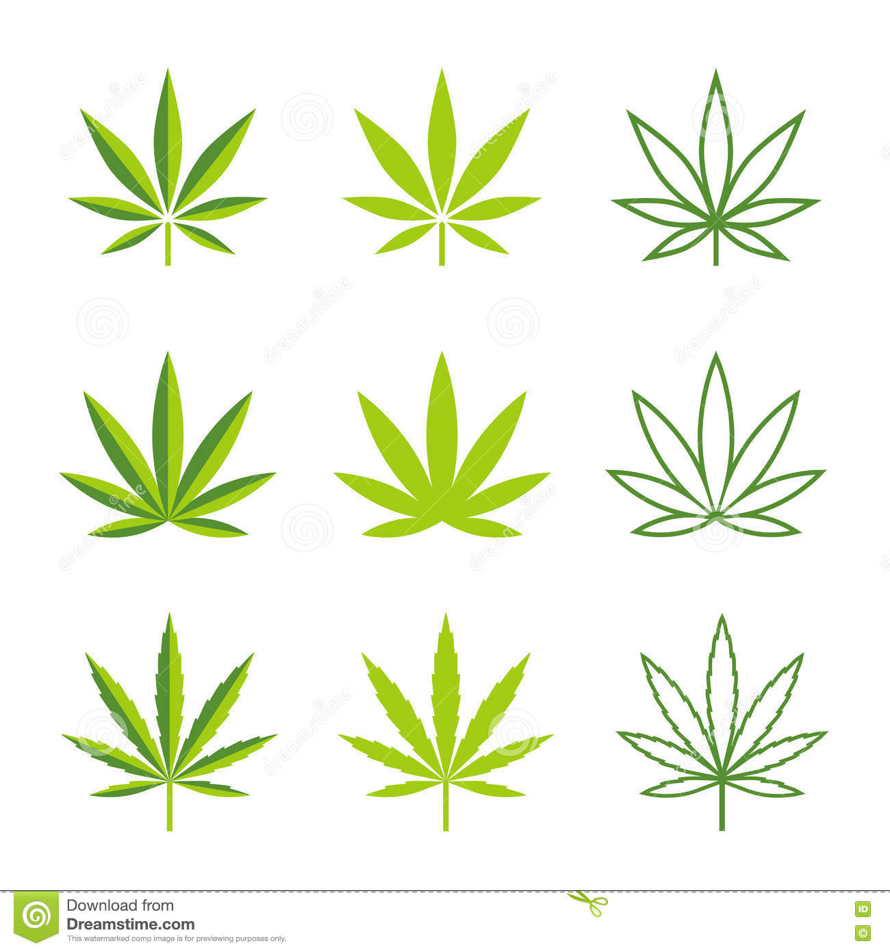 Marijuana Leaves Vector Icons Stock Vector Illustration Of Joint Icons 74499156