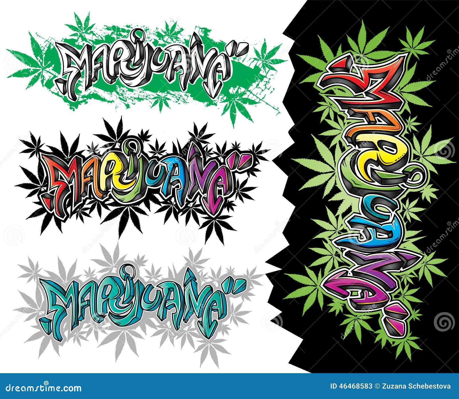 Marijuana weed leaves street graffiti design text stock marijuana weed leaves street graffiti design text biocorpaavc