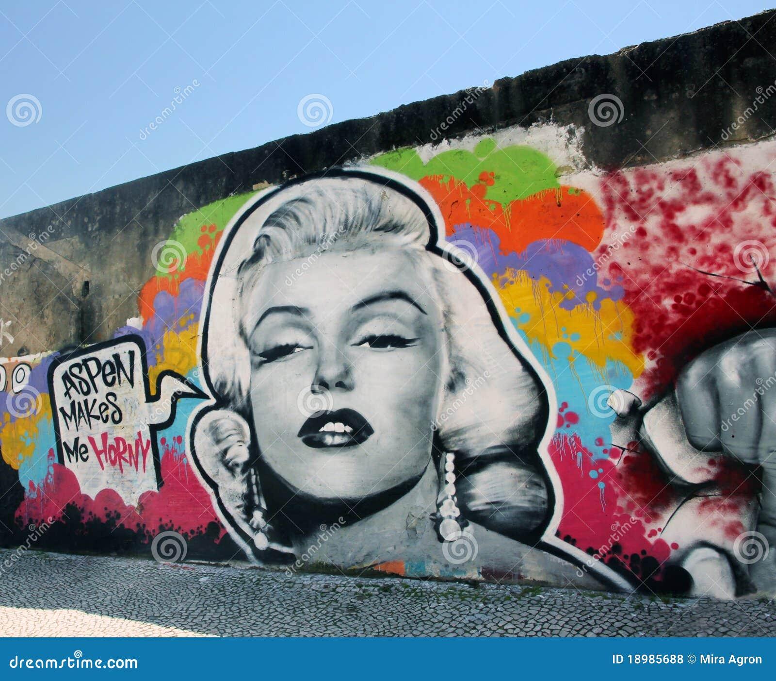 Marilyn Monroe Graffiti Stock Photo 18985688 Megapixl