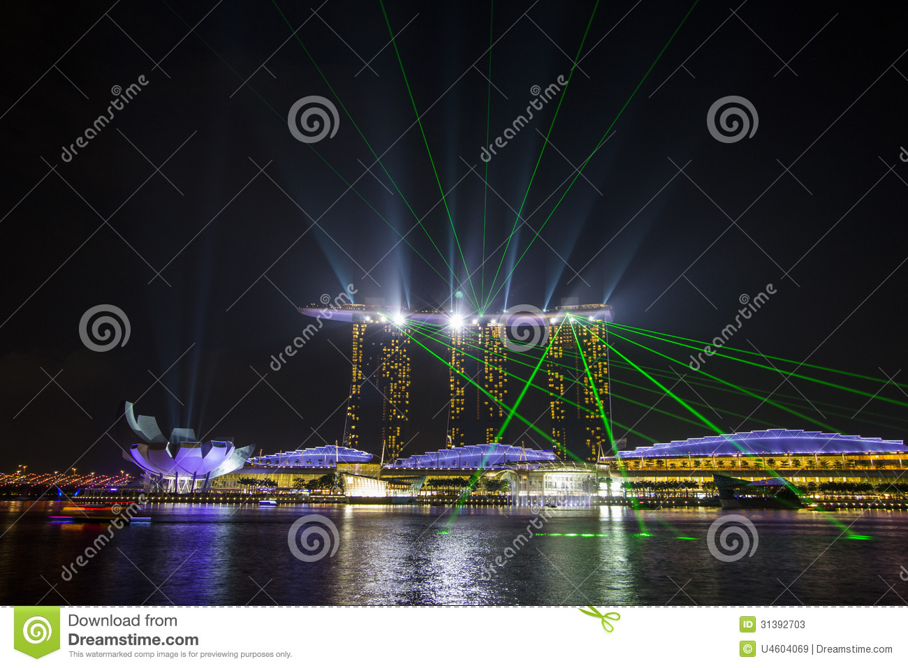 Marina Bay Sands With Dancing Laser Lights Editorial Stock Photo Image 313