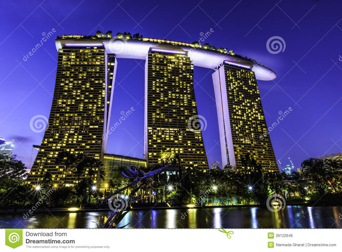 marina bay sands hotel stock photo  image of five  vegas