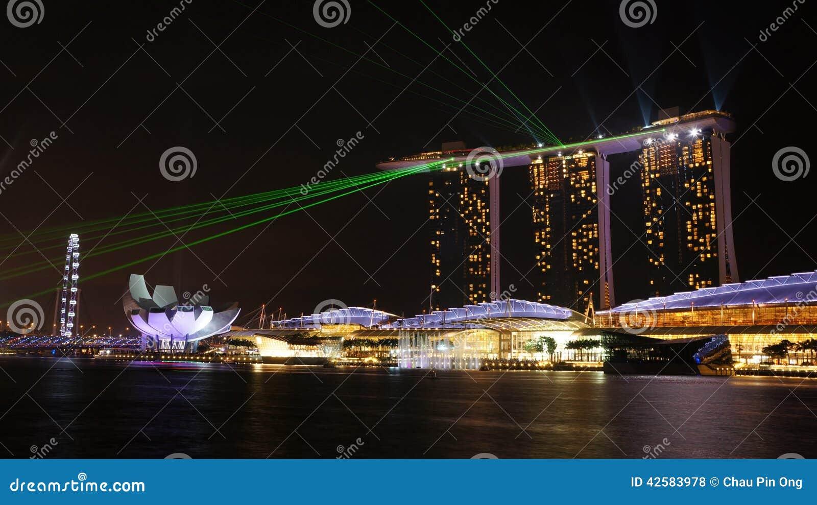 marina bay sands laser light show time wonder full at marina bay