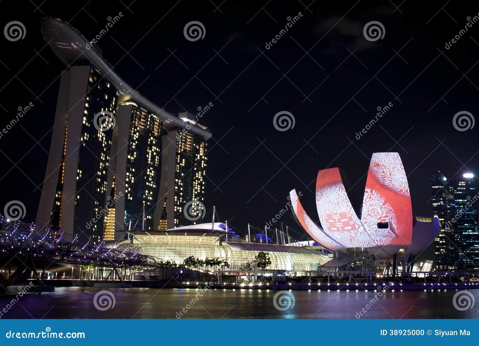 Marina Bay Sands och Art Science Museum