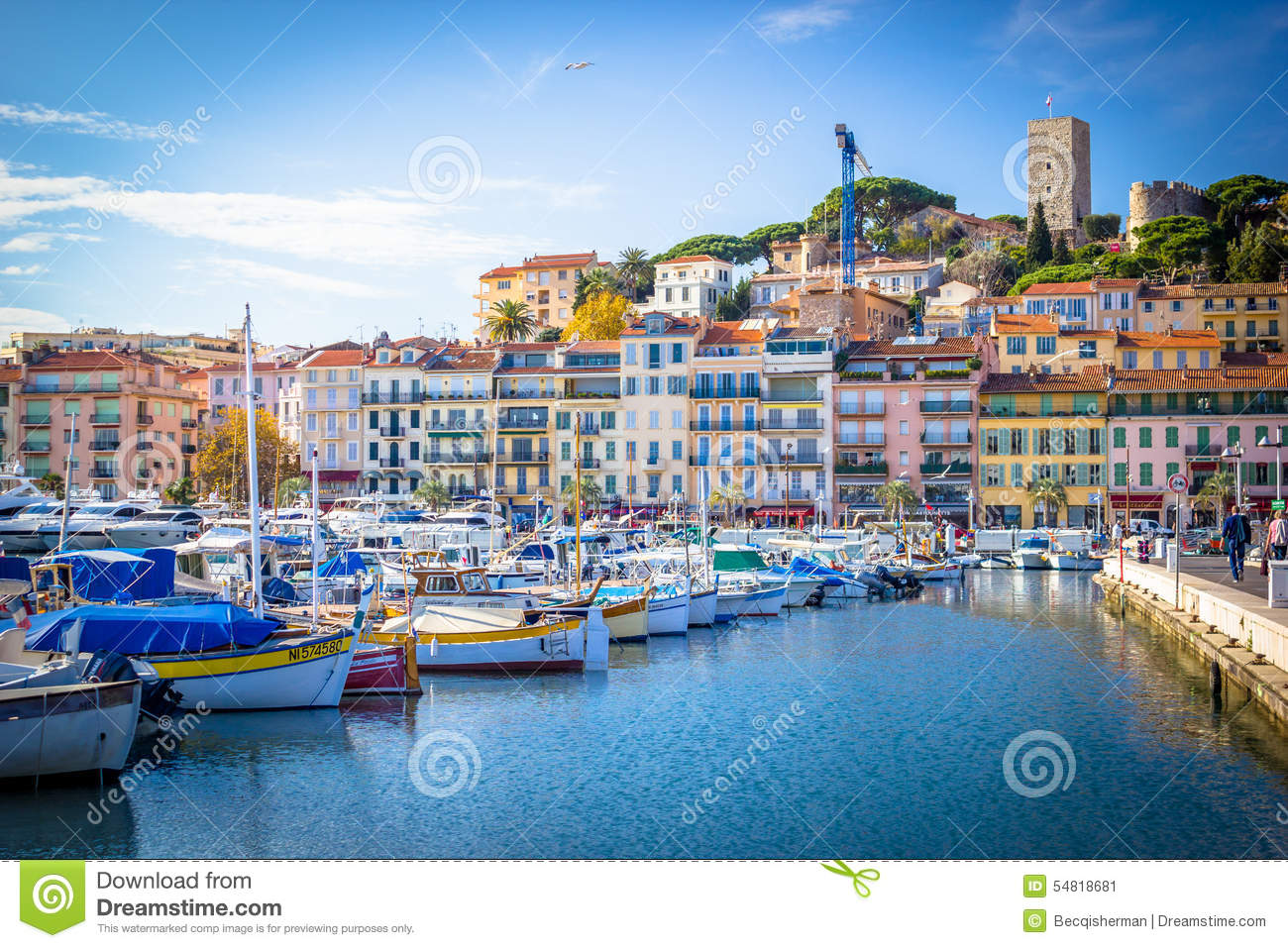 Marina of boats in Cannes France