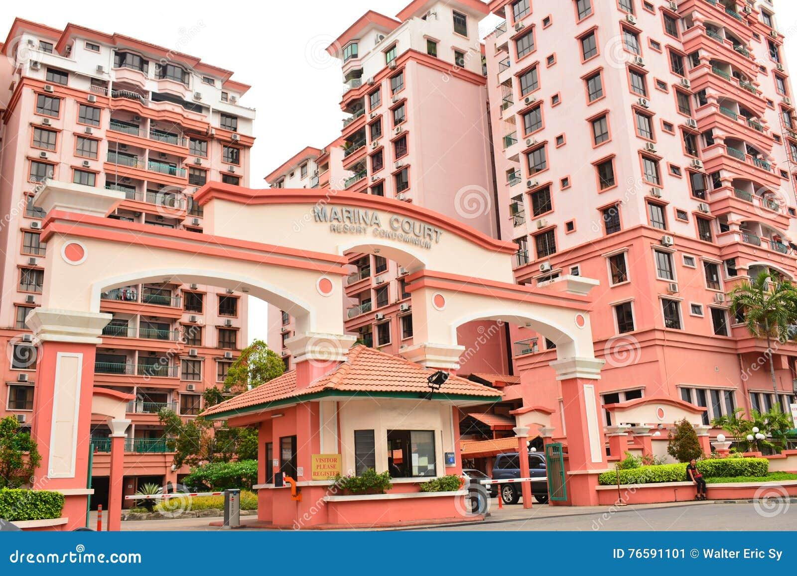 Marina Court Resort Condominium Facade in Malesia