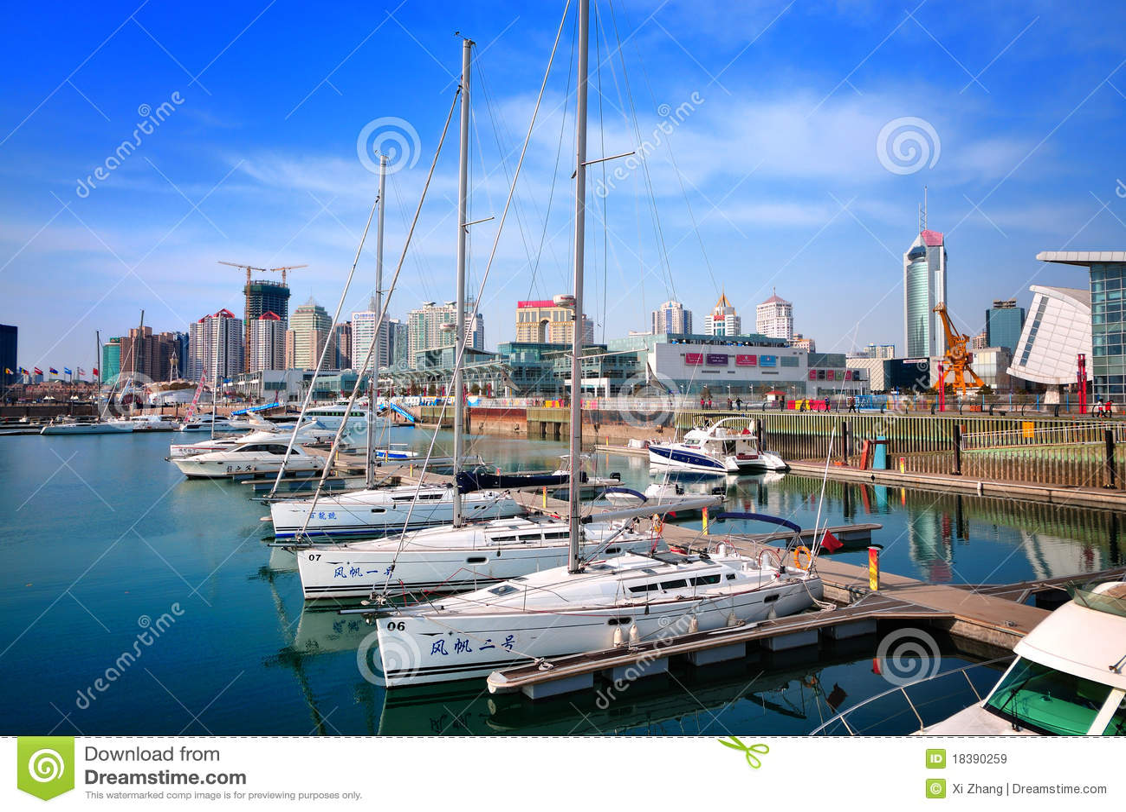 Marina de yacht de ville de la Chine Qingdao