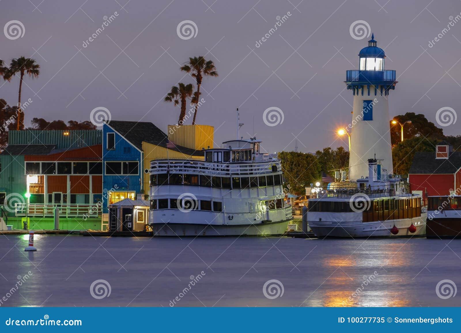 Marina del Rey, de Vissers` s Dorp van Californië