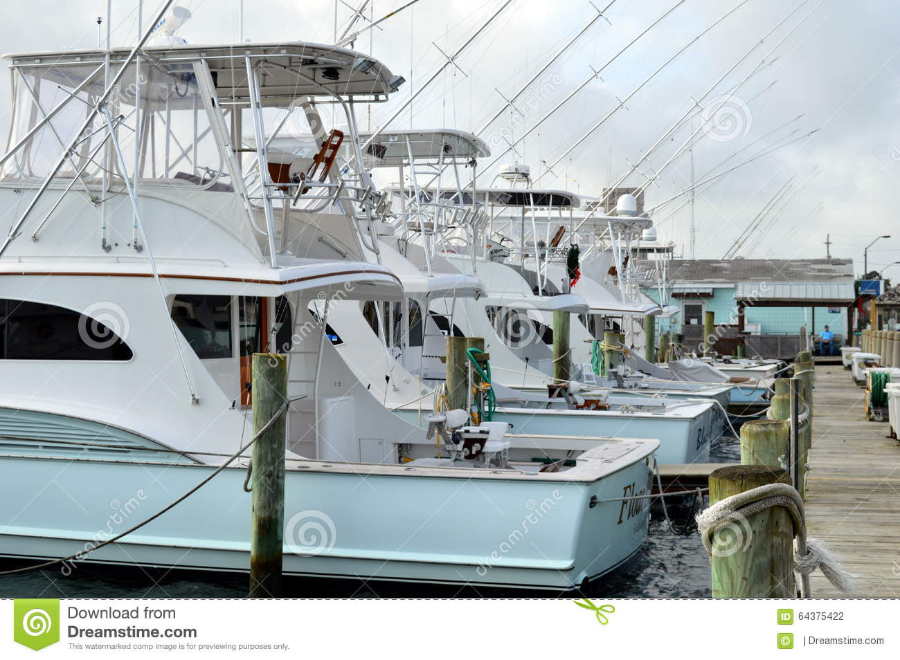 The marina editorial photography image 64375422 for Morehead city fishing