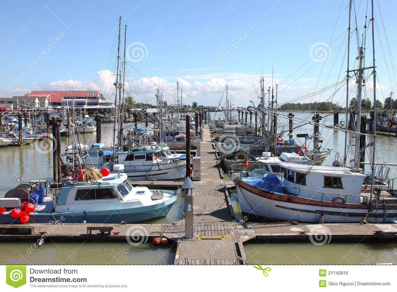 Marina moored fishing boats in richmond bc royalty free for Fishing in richmond va