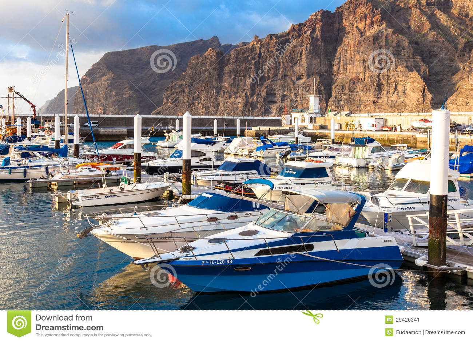 Marina at puerto de los gigantes tenerife spain editorial photo image 29420341 - Puerto de los gigantes ...