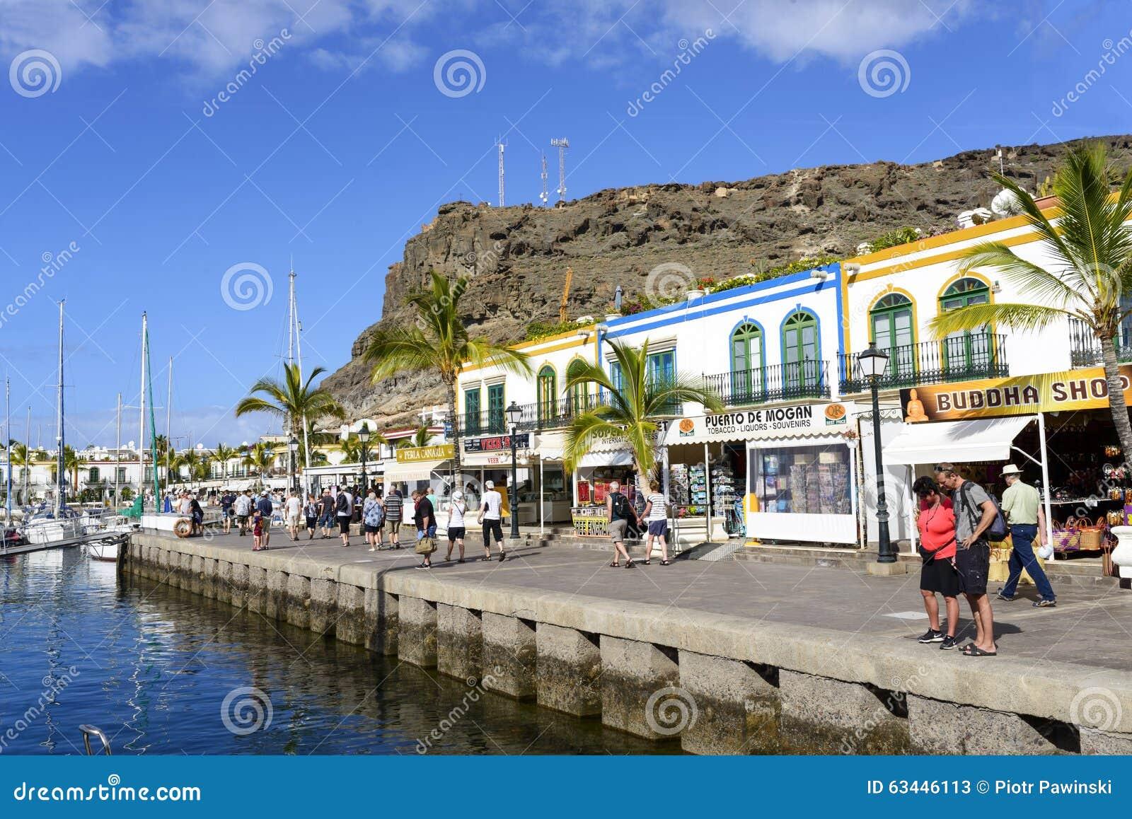 Marina in in puerto de mogan editorial stock photo image - Gran canaria weather november ...