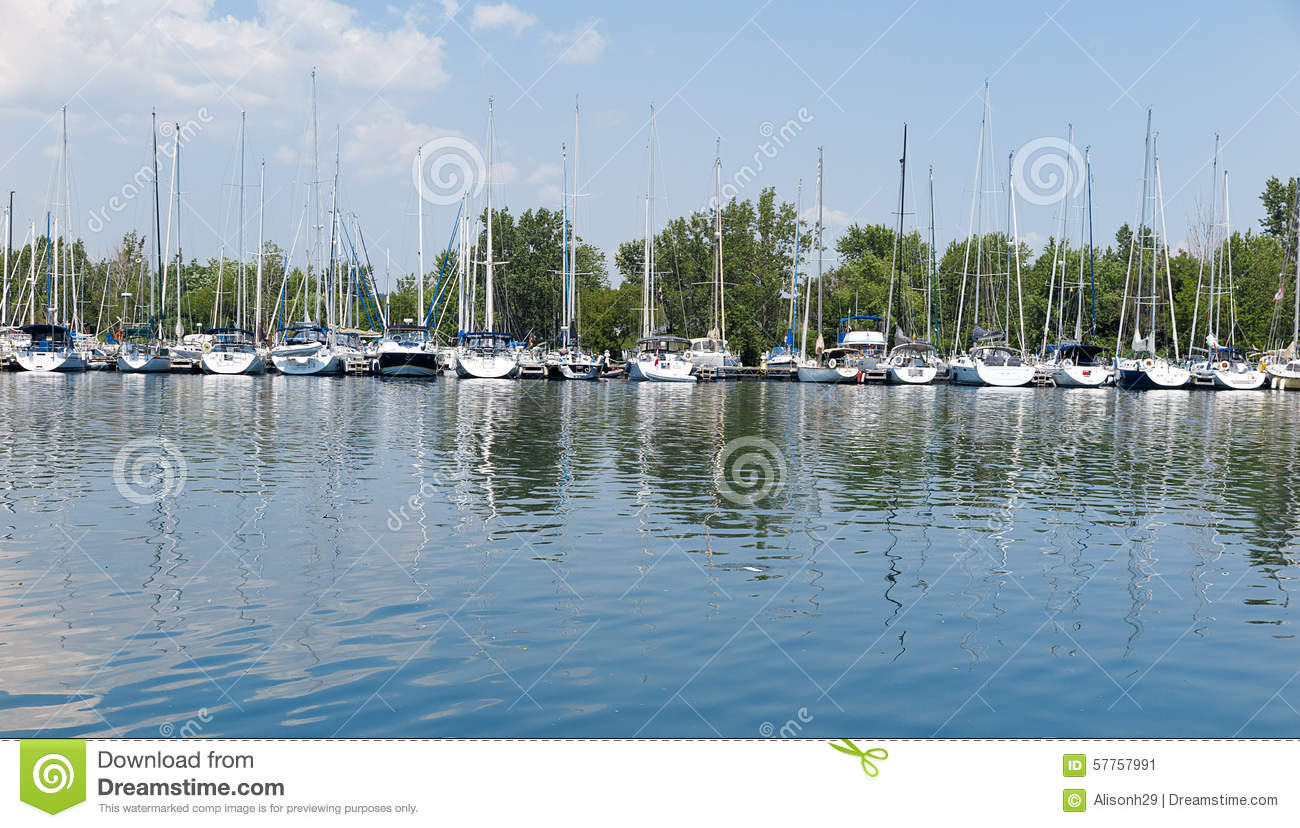 Senior Man On Marina Sport Boats Portrait Stock Photo - Image ...