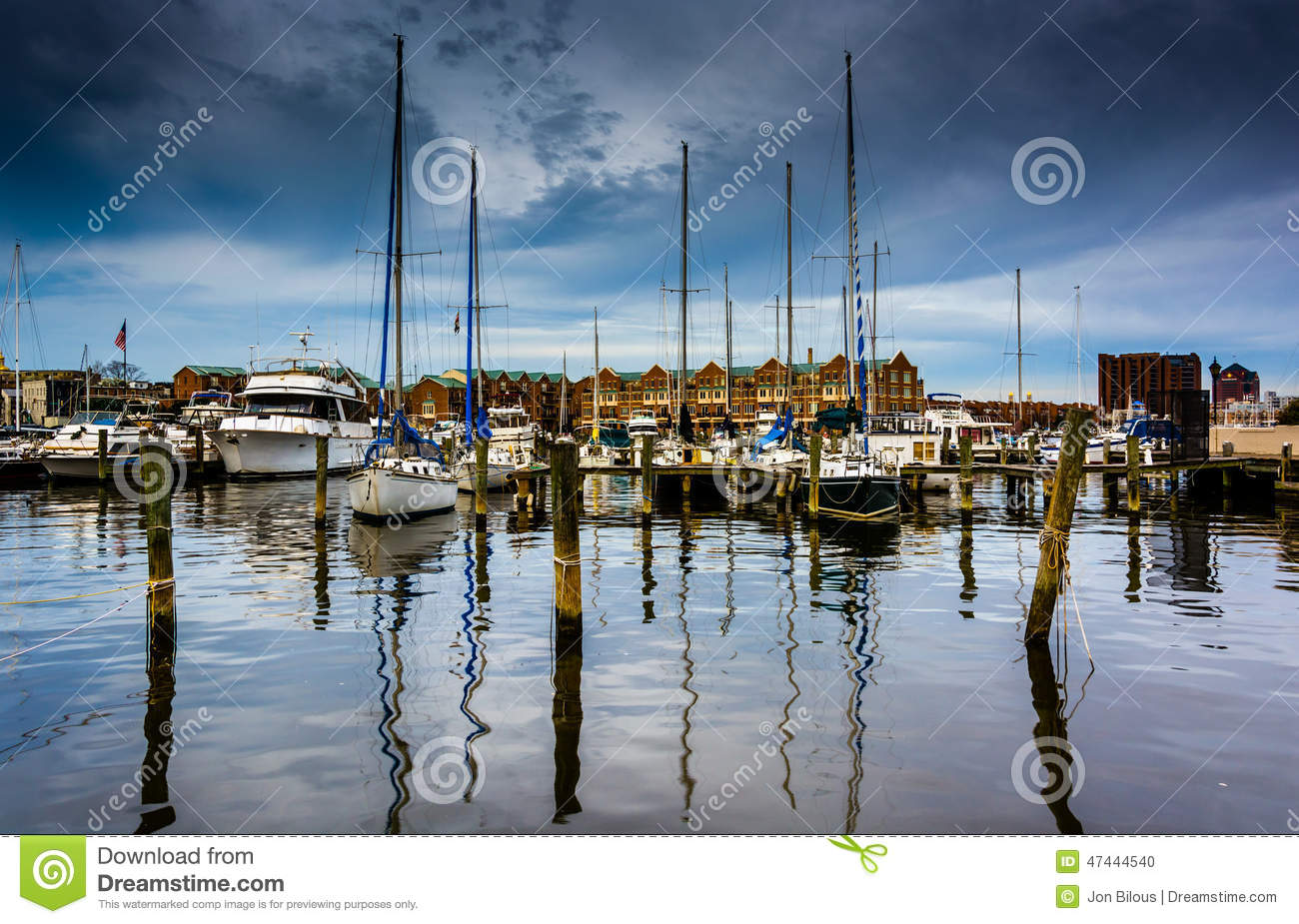 Marina w kantonie, Baltimore, Maryland