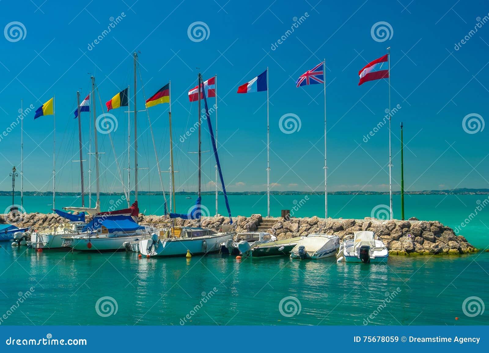 Marina for yachts