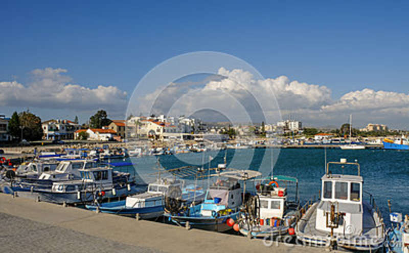 Marina, Zygi, View Of Harbour And Village  Editorial