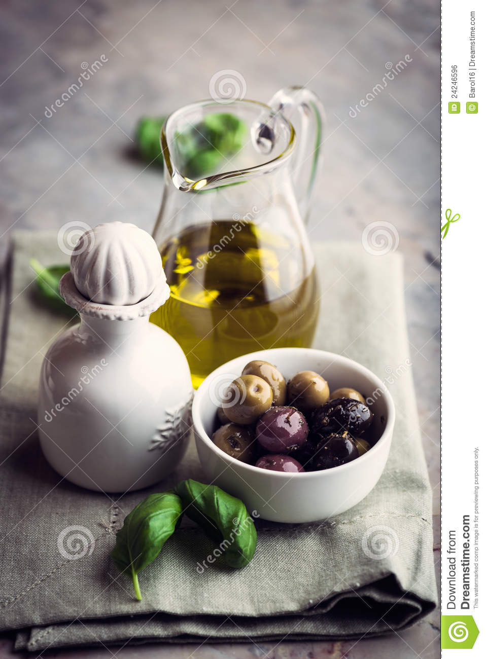 Marinated Olives and Olive Oil