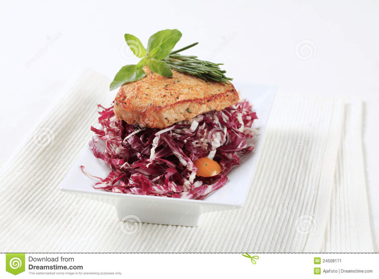 Marinated Pork And Red Cabbage Stock Image - Image: 24508171