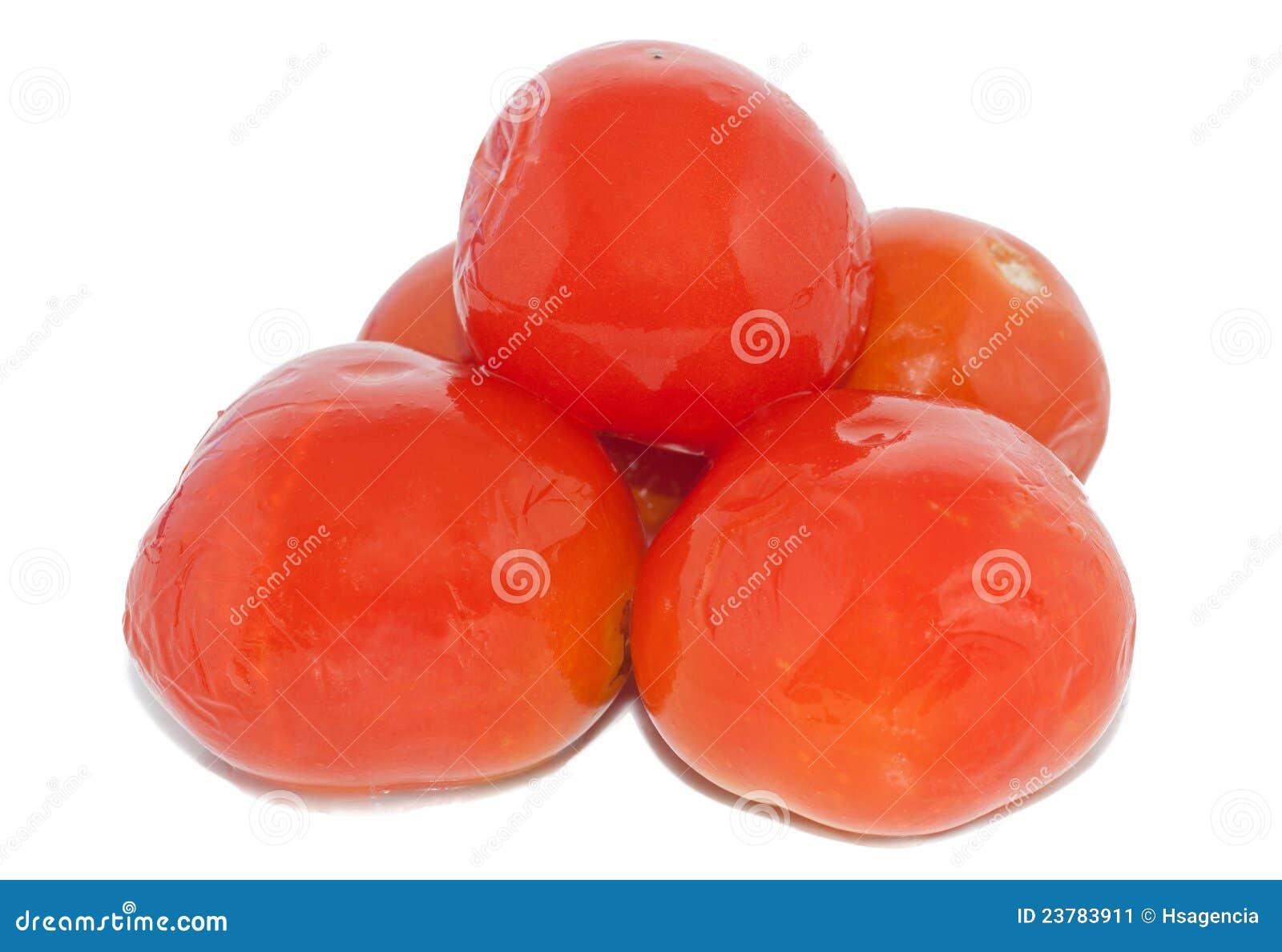 Marinated tomatoes isolated ower white