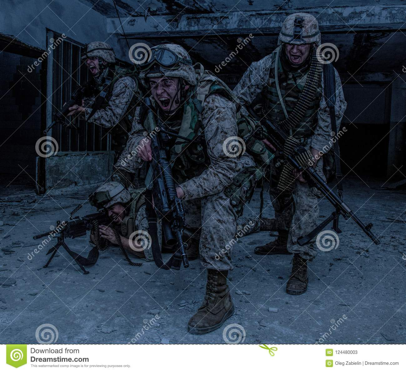 download marine corps soldier fighters breakthrough with firefight stock image image of rush fire