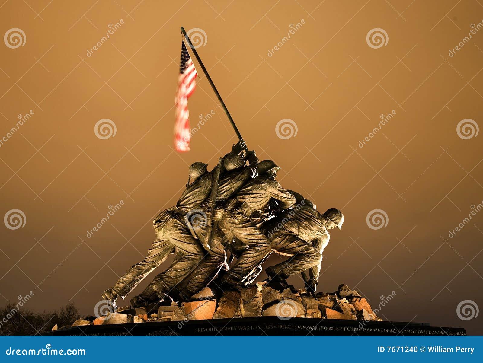 Download The Marine Corps War Memorial Washington DC Stock Photo - Image of rosslyn, jima: 7671240
