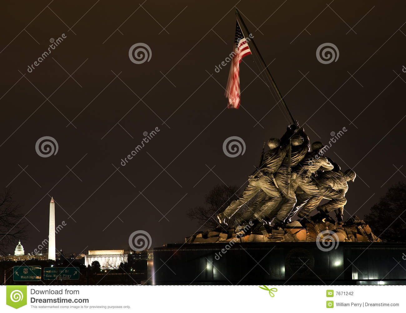 Download The Marine Corps War Memorial Washington DC Stock Photo - Image of jima, states: 7671242