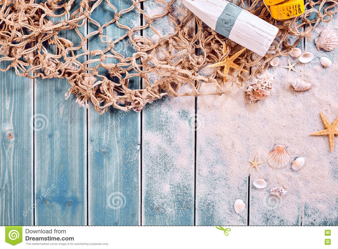 Marine Or Nautical Themed Background Stock Photo - Image ...