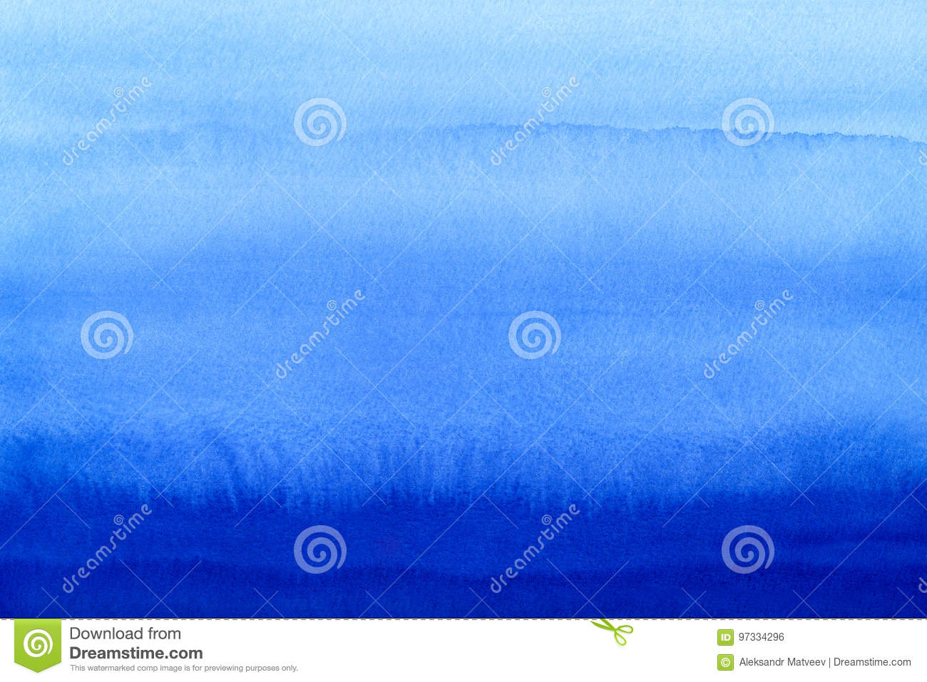 Marine or navy blue watercolor gradient fill background. Watercolour stains. Abstract painted template with paper texture. Blue se