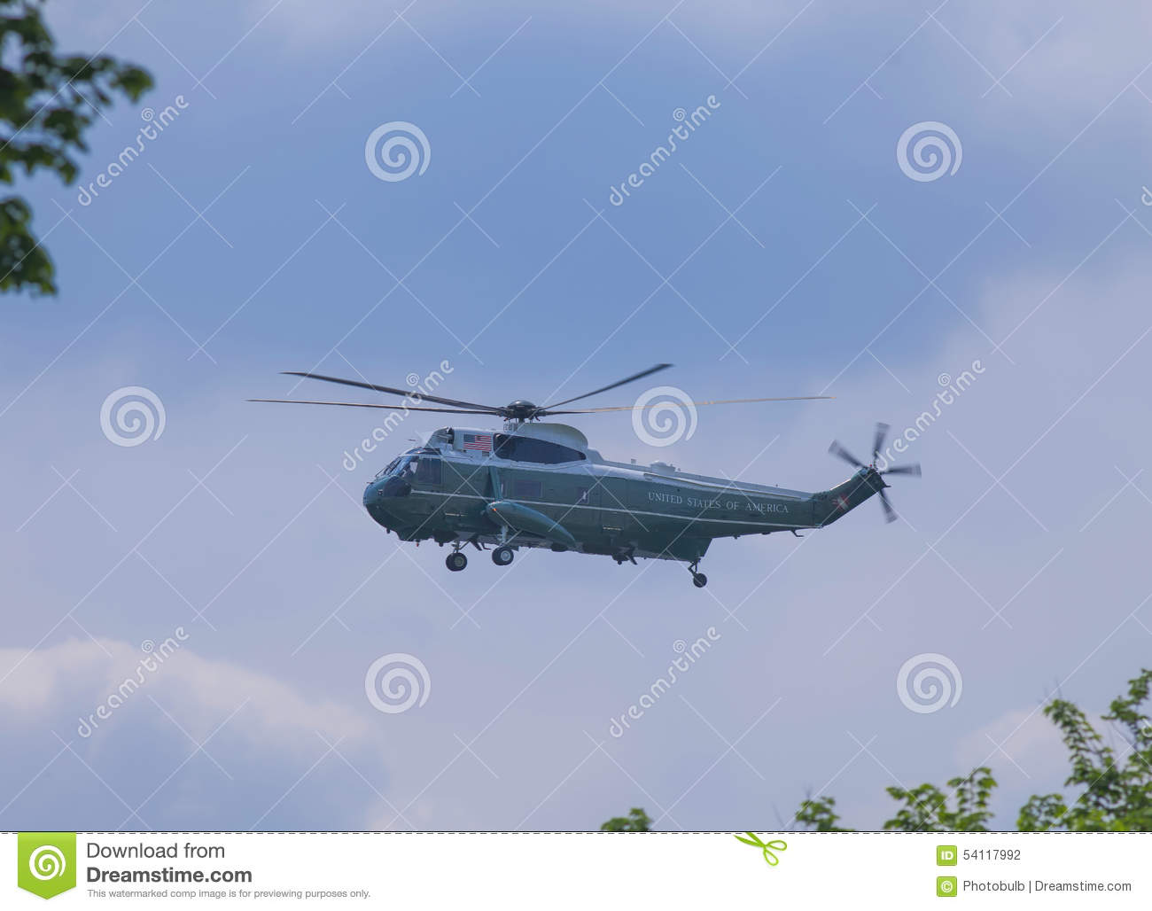 Marine One Helicopter In Flight Editorial Photography - Image of