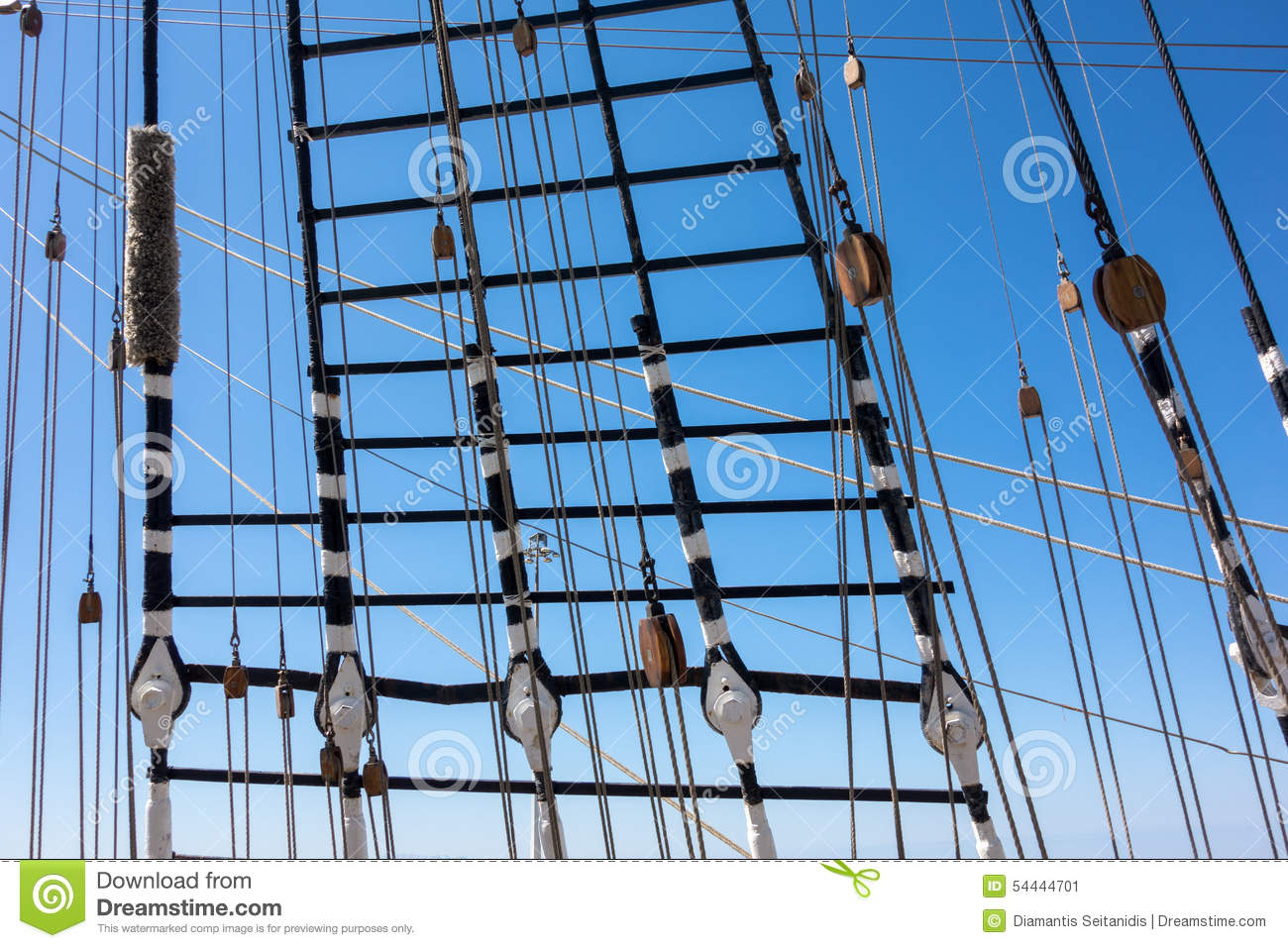 Marine Rope Ladder At Pirate Ship Stock Image - Image of shipping ... for Rope Ladder Ship  155fiz
