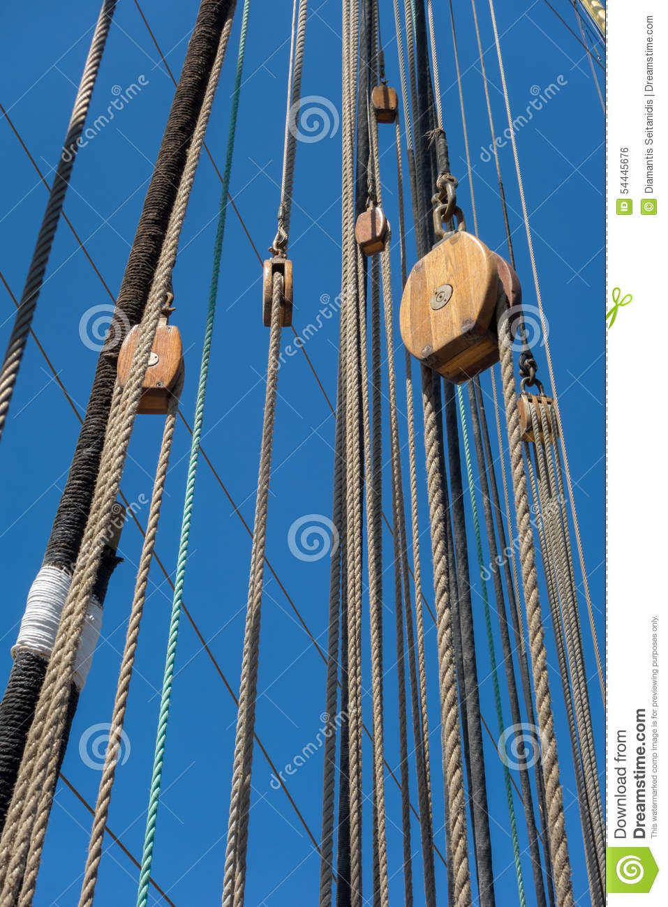 Marine Rope Ladder At Pirate Ship Stock Photo - Image: 54445676 for Rope Ladder Ship  177nar