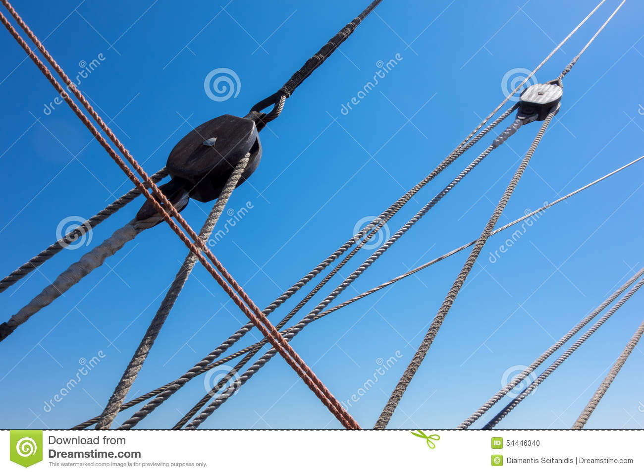 Marine Rope Ladder At Pirate Ship Stock Photo - Image: 54446340 for Rope Ladder Ship  66pct