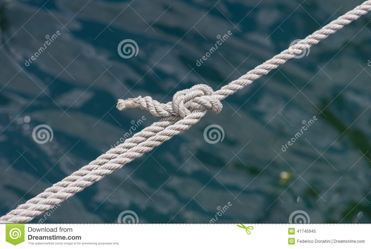 Marine ropes with knot