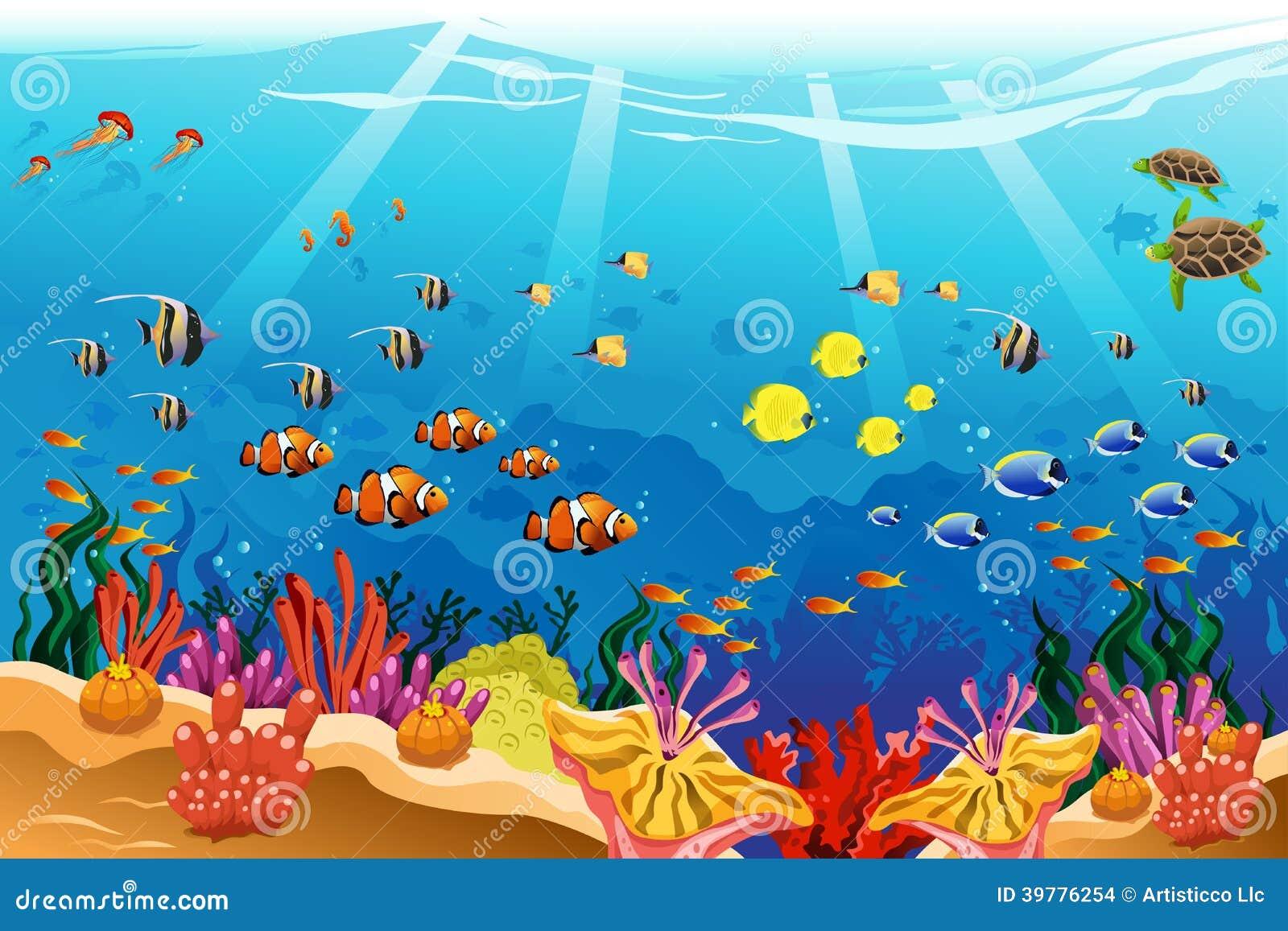Marine underwater scen...