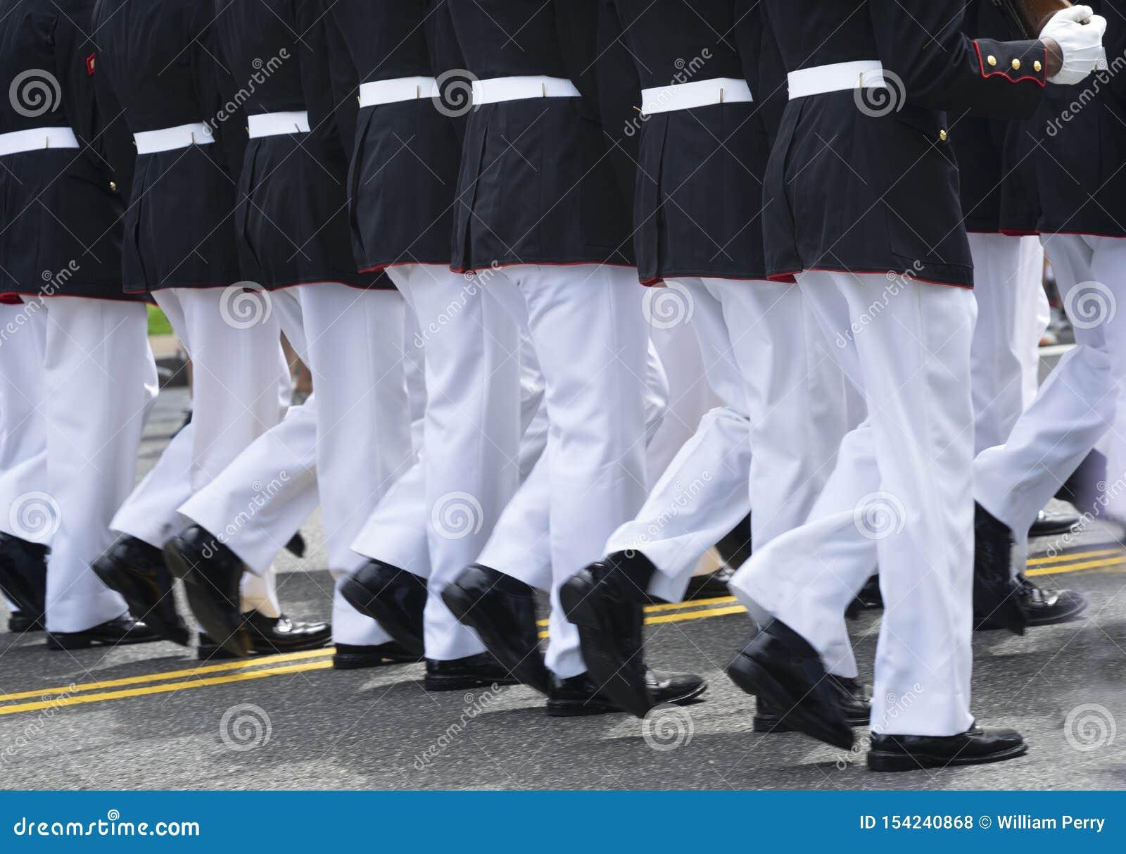 Marinemarschierende Einheits-Memorial Day -Parade-Washington DC