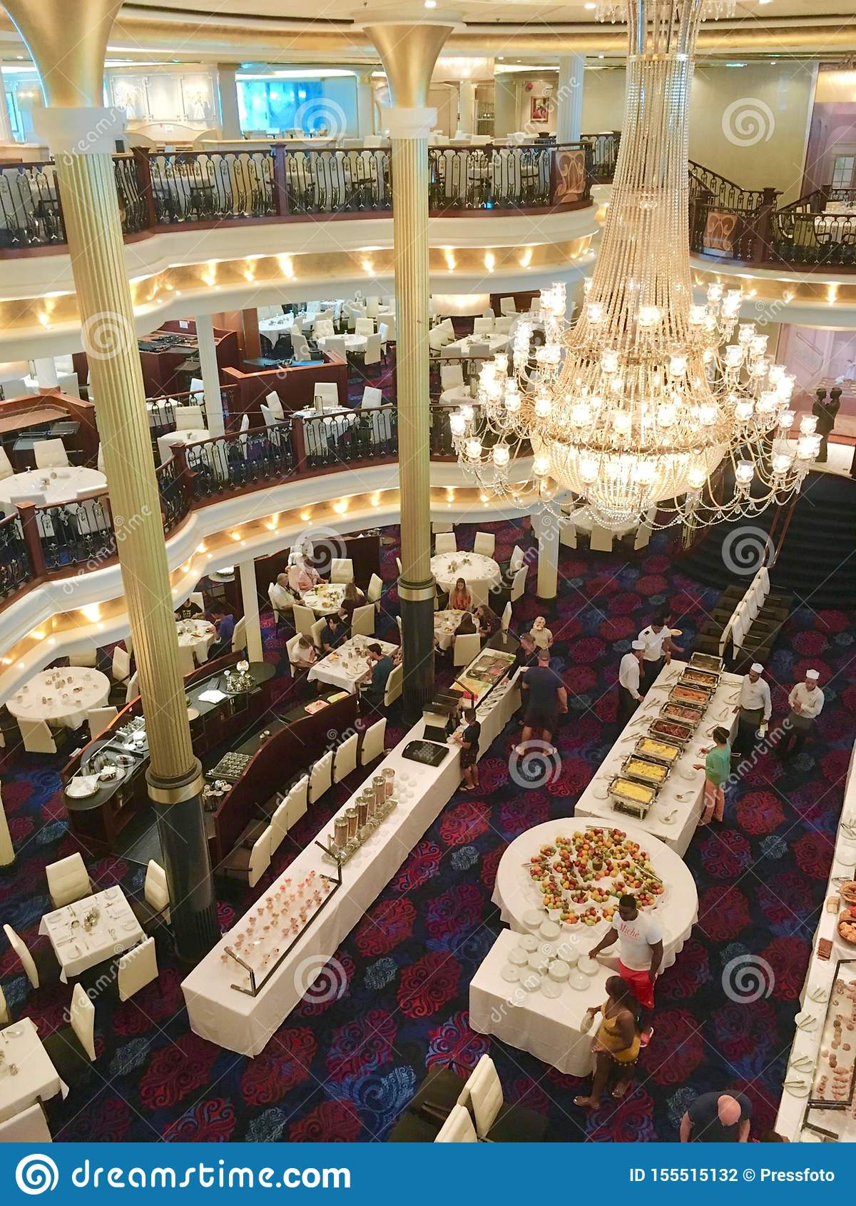 Mariner Of The Seas Dining Room Editorial Photography