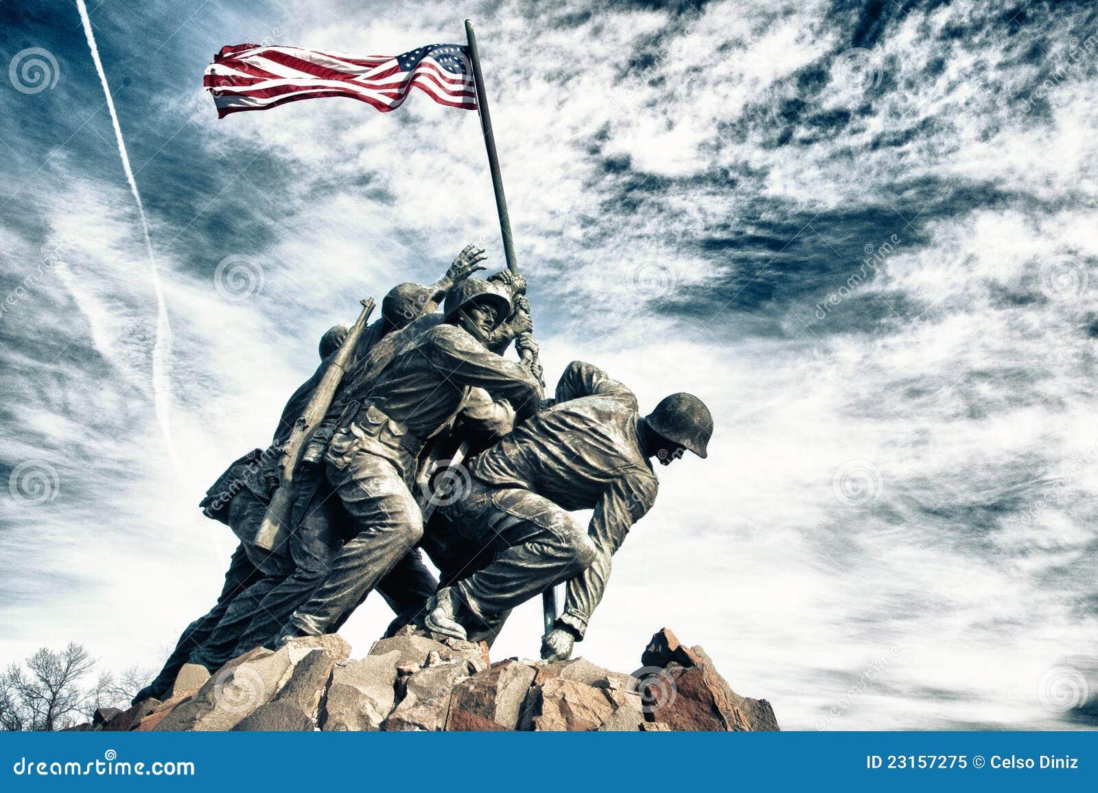 Marinkorpraler kriger minnesmärken